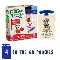 GoGo SqueeZ 酸奶 草莓口味 4袋装
