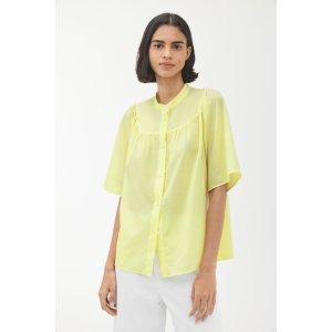 arket鹅黄色衬衫