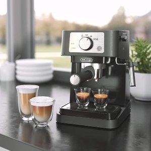 $119.99包邮(原价$149.99)De'Longhi EC260BK Stilosa 意式浓缩咖啡机 内置手动打奶器