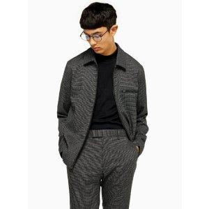 TopmanBlack Textured Smart Coach Jacket