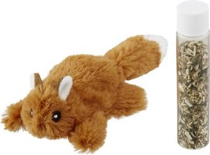 Frisco Refillable Catnip Cat Toy, Brown Squirrel - Chewy.com