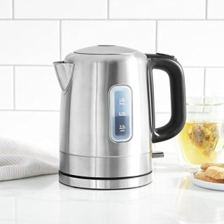 AmazonBasics Stainless Steel Electric Kettle - 1 Liter, Silver