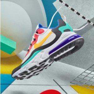 码全+免邮新品上市:Nike中国官网 Air Max 270 React 全新发售,这就是夏天