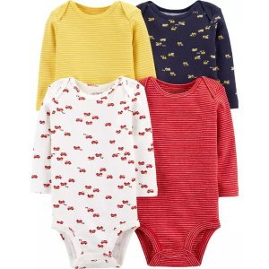 Carter's4-Pack Long-Sleeve Original Bodysuits