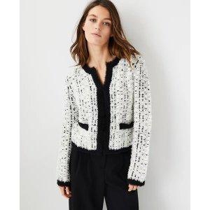Ann TaylorTweedy Sweater Jacket | Ann Taylor