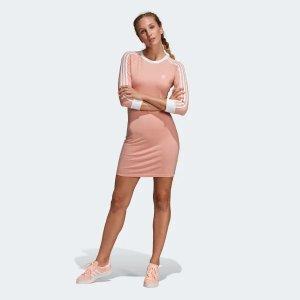 adidas OriginalsBella街拍同款烟粉色 连衣裙