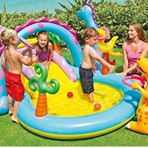$97.95(原价$143.05)Intex Dinoland 超可爱 恐龙乐园 充气式儿童戏水池