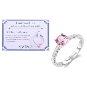 12折 £4.5收 原价£38.99Philip Jones生日宝石戒指 可调节纯银指环