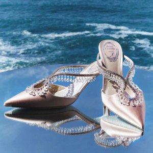 3.5折起 £295收水钻珍珠凉鞋RENÉ CAOVILLA 绝美仙女水钻鞋热卖 遇见拾光里的一抹琉璃