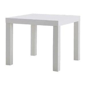 Ikea LACK 装饰桌, 白色 21 5/8x21 5/8