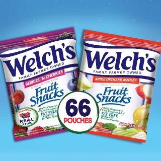 $9.34 一包只需$0.14Welch's 水果软糖混合口味 0.9oz 66包