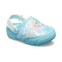 Crocs 儿童艾莎公主闪灯鞋
