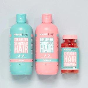 HairburstChewable Hair Vitamins and Shampoo & Conditioner Bundle