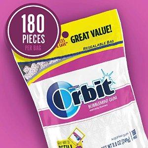 $5.01 包邮Orbit White 无糖口香糖 180粒