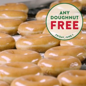 Free Donutcelebrate National Donut Day on 6/7