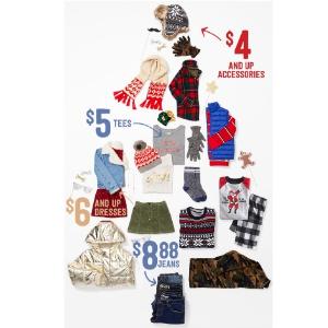 $6 起折扣升级:Crazy8 儿童服饰海量上新 价格超好的节日新装买不停