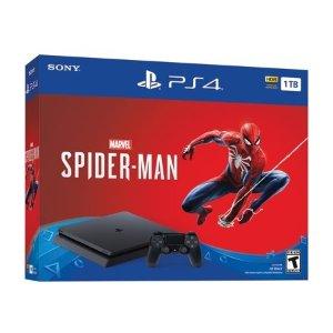 PlayStation Sony PlayStation 4 Slim 1TB Spiderman Bundle, Black, CUH-2215B
