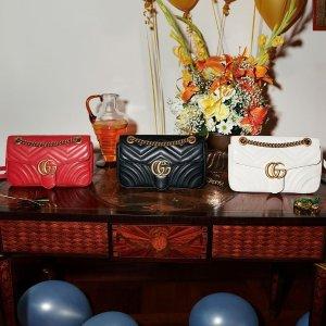 低至5折+满额减$5011.11独家:Gucci 服饰美包热卖 入经典Marmont包,小白鞋,羊毛围巾