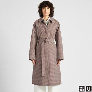 WOMEN U BLOCKTECH CHECKED COAT | UNIQLO US