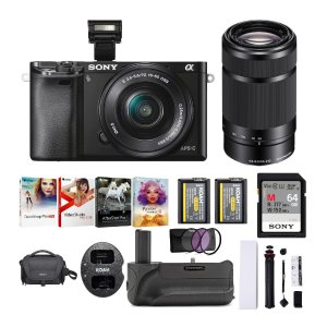 SonyAlpha a6000 Mirrorless Camera with 16-50mm & 55-210mm Lens Bundle