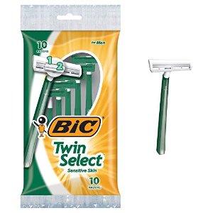 $8.64(原价$12.25)BIC 双层刀片男士一次性剃须刀 30支装