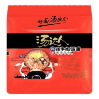 汤达人 五连包 韩式辣牛肉汤面 625g