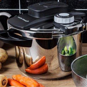 低至3折 厨房好帮手Morphy Richards 6L大容量不锈钢高压锅 养生鸡汤炖起来