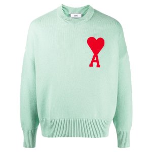 Ami Parisoversize Ami de Coeur logo patch jumper