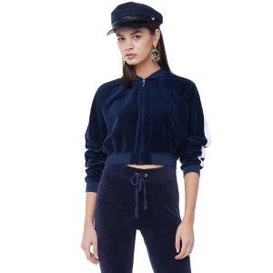 Juicy Couture封面相似款短款丝绒外套