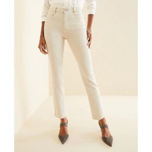 Ann TaylorSculpting Pockets High Rise Straight Leg Jeans in Sky Grey | Ann Taylor