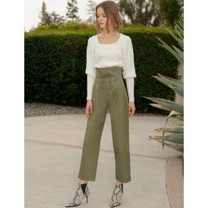 Pixie Market系带纸袋裤