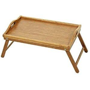 $12.76Furinno 竹质床上笔记本电脑桌早餐桌