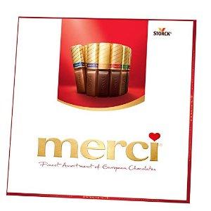 $4.72 自用送人都合适Merci 德国巧克力8口味 混合装 7oz