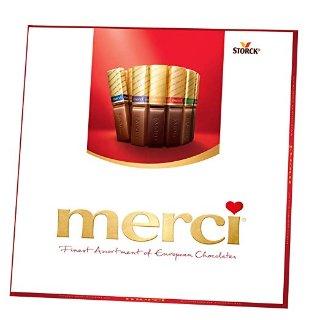 $5.32 自用送人都合适Merci 德国巧克力8口味 混合装 7oz