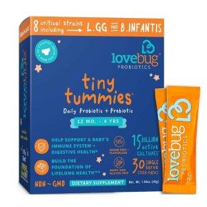 6.5折+额外9.5折+包邮LoveBug Probiotics 儿童益生菌,从婴儿到儿童的都有