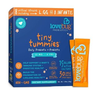 6.5折+额外9.5折+包邮黑五独家:LoveBug Probiotics 儿童益生菌黑五特卖,从婴儿到儿童的都有