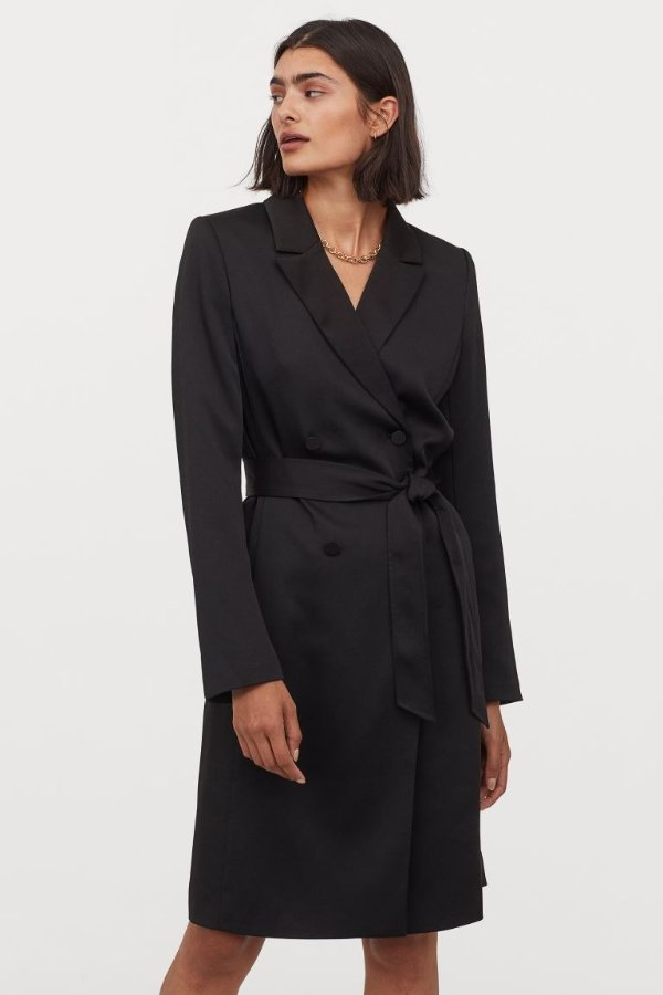 黑色西装裙