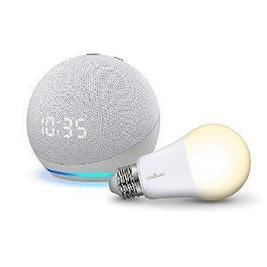 时钟版 双色可选Echo Dot with Clock+免费灯泡