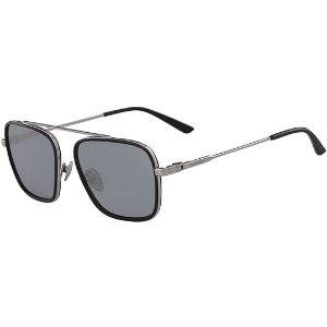 Calvin KleinSquared Aviator w/ Fly Away Bridge Sunglasses - Eyedictive