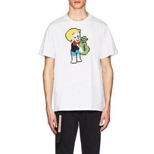 印花棉质T恤
