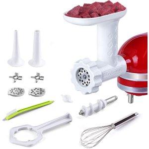 $30.39(原价$56.99)史低价:Antree Kitchenaid厨师机专用 绞肉、灌肠通用配件