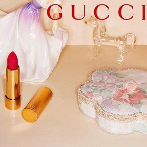售价£34 圣诞礼物就送它Gucci 最新纯哑光口红上线 年底美妆重磅新品