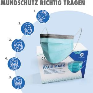 50个折后€14.9 原价€19.9Flex 三层医用口罩 欧洲14683 Type II标准 性价比高可以补货啦
