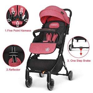 €93.49 (原价€209.99)贝思瑞0-3岁婴儿推车 可坐可躺轻便折叠伞车可上飞机