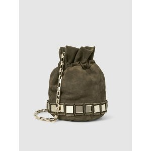 Lucile Mini Embellished Suede Bucket Bag 单肩包