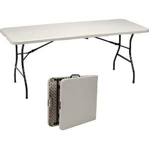 Staples 6 Fold In Half Folding Table Dealmoon