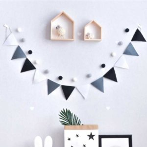 Quality Grey Black White Pennants Bunting Banner Wedding/Valentine's day/birthday party Flags Hang Garland Decoration Supplies-in Banners, Streamers & Confetti from Home & Garden on Aliexpress.com   Alibaba Group