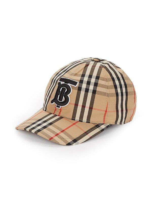 Vintage 格纹棒球帽