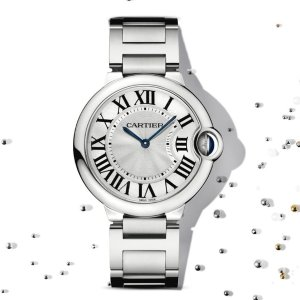 Extra $50 OffDealmoon Exclusive: Cartier Ballon Bleu Silver Dial Ladies Watch