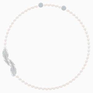 Swarovski羽毛珍珠项链